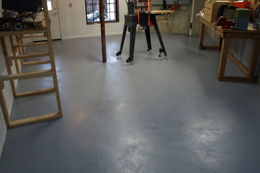 basement floor painting