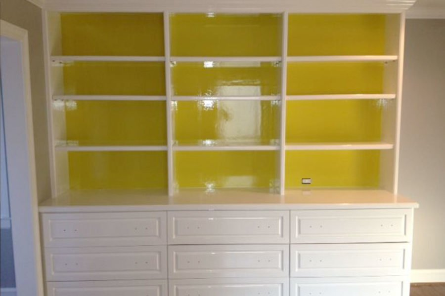 builtin cabinet painting