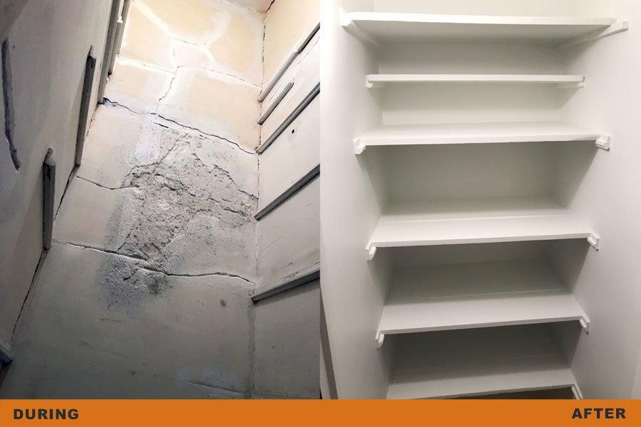 closet plaster restoration