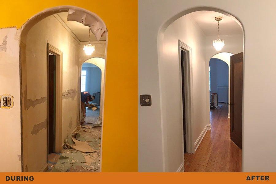 door arch restoration