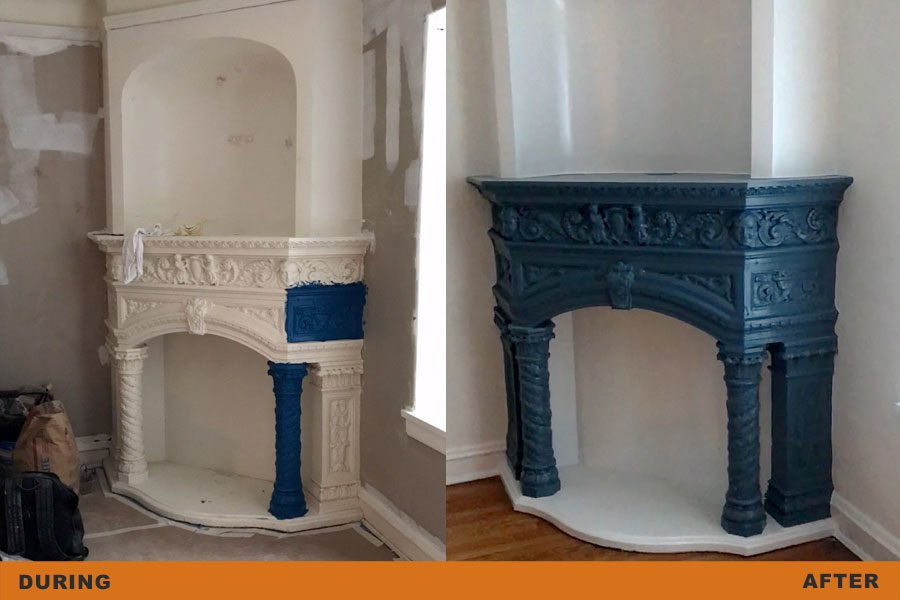 fireplace restoration painting