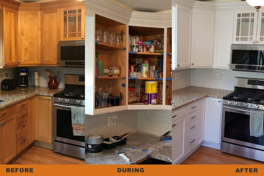 kitchen cabinets painting process