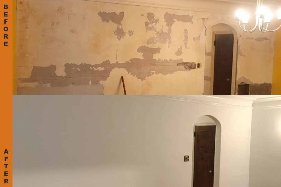 wall restoration project
