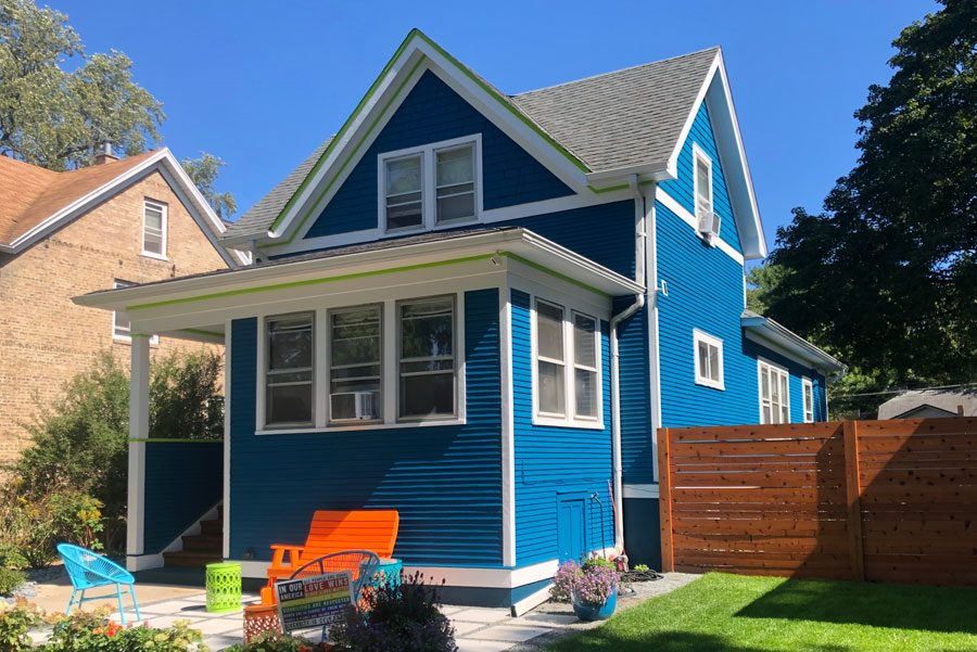 colorful exterior home painting
