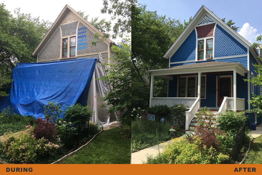 exterior home painting process