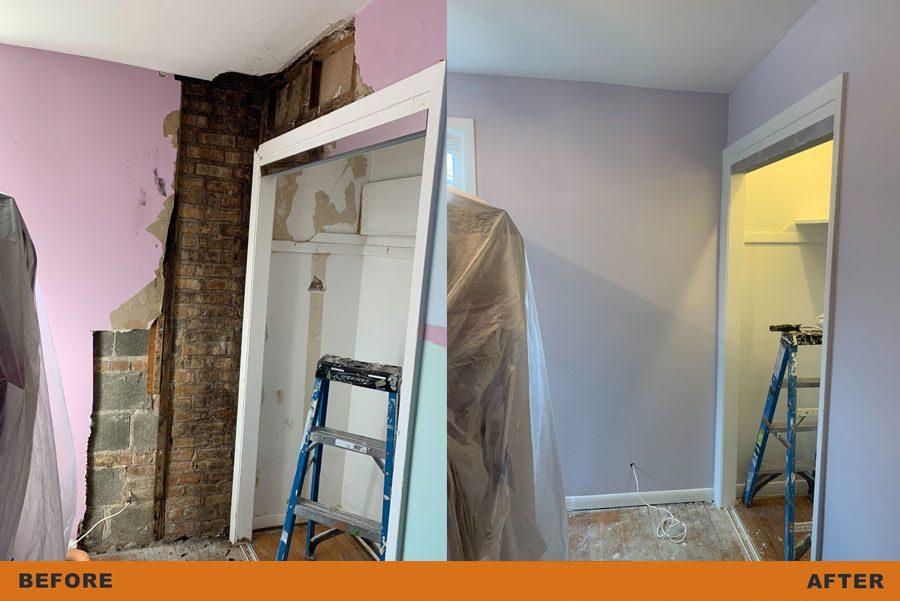 room and closet restoration